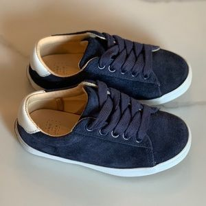 Janie and Jack Suede Lace-Up Sneaker